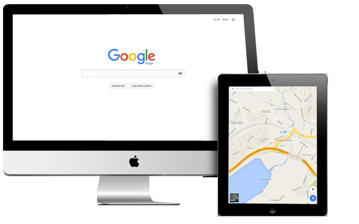 Google Search og Google Maps er to metoder for å markedsføre din lokale bedrift på nettet