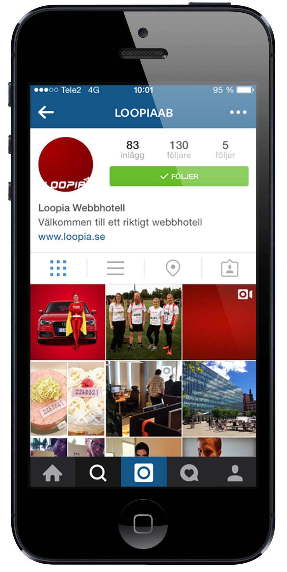 Loopia på Instagram - på svensk.