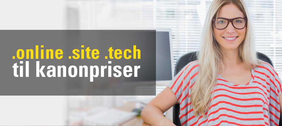 Loopia lansere hele tiden nye toppdomene. .Online, .Site og .Tech -domenenavn er lett for andre å huske fordi de er blant verdens mest populære domenenavn.
