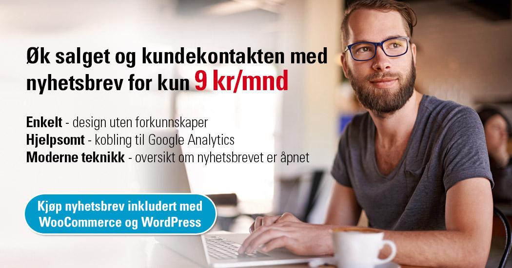 Øk salget og kundekontakten med å kjøpe Loopia nyhetsbrev for kun 9 kr/mnd